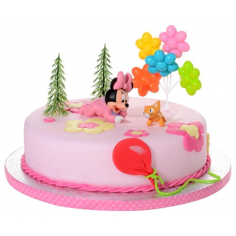 21908 KIT DECORAZIONE TORTA MINNIE BABY CAKE DESIGN BAMBINA FESTA COMPLEANNO