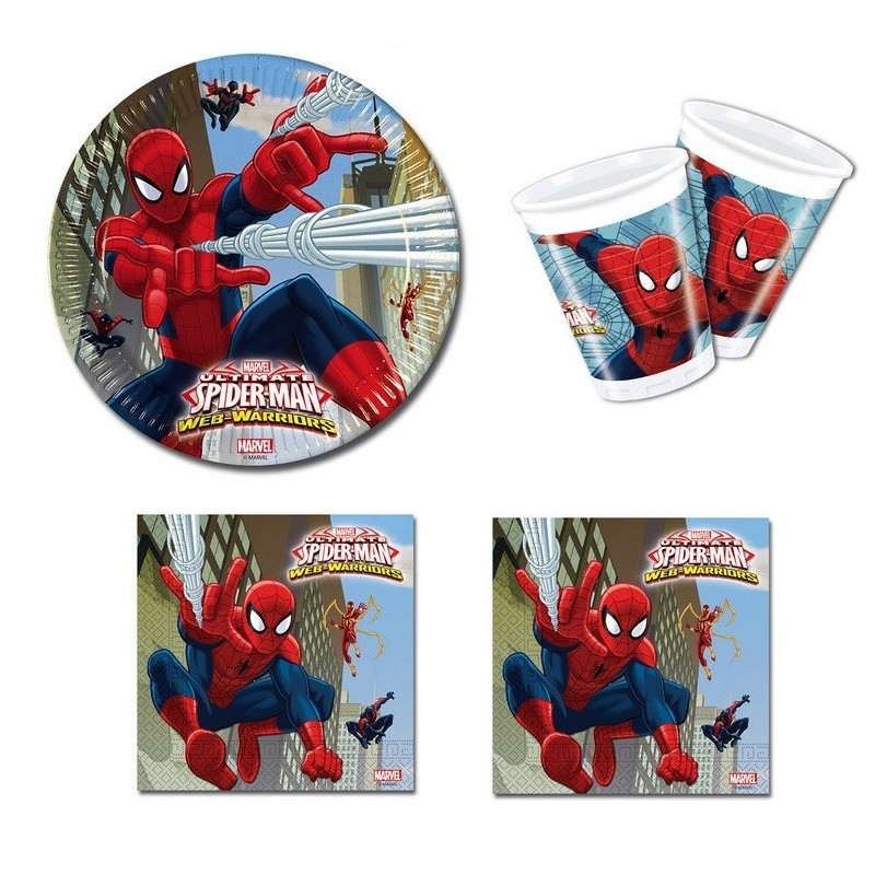KIT N29 COORDINATO TAVOLA SPIDERMAN WEB WARRIORS