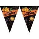 """FESTONE BANDIERINE """"HAPPY HALLOWEEN"""" ADDOBBO FESTA A TEMA HALLOWEEN ZUCCHE ZUCCA"""