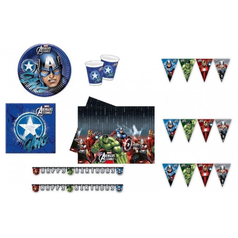 KIT N17 - DECORAZIONI CAPITAN AMERICA