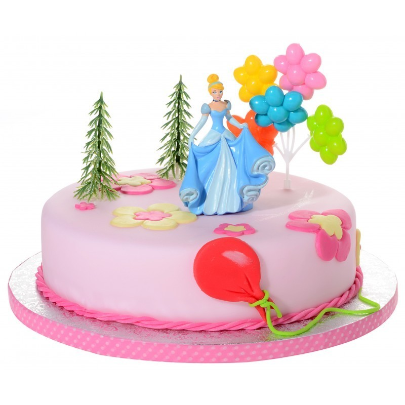 21910 KIT DECORAZIONE TORTA CENERENTOLA PRINCIPESSA CAKE DESIGN TORTA BIMBA