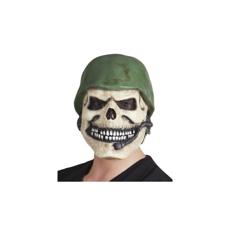 Halloween Maschere.Maschera Teschio Soldato Halloween