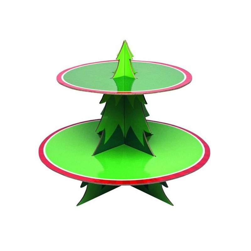 Alzatina espositore centrotavola albero di natale 2 piani for Piani di palazzi di 2 piani