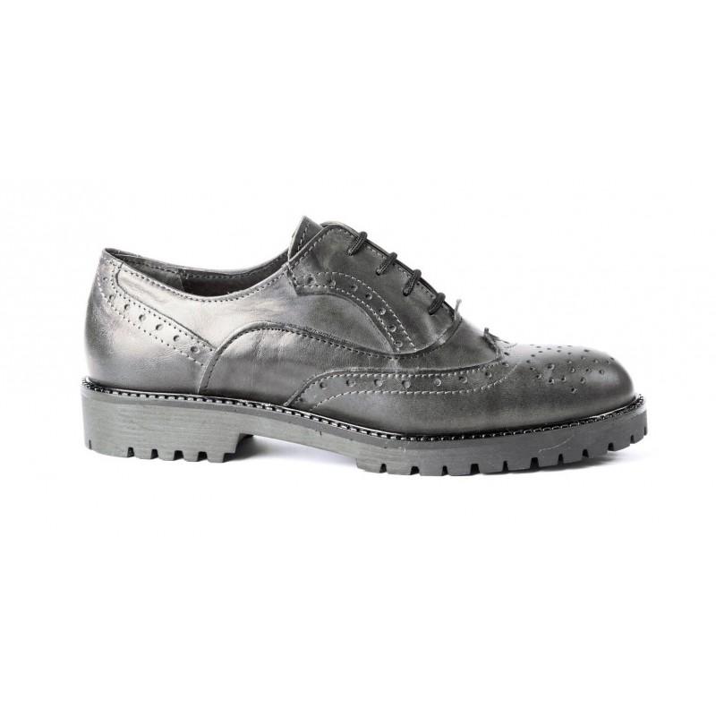 best loved 99099 10edb Francesina bassa, scarpe donna, mocassino in pelle