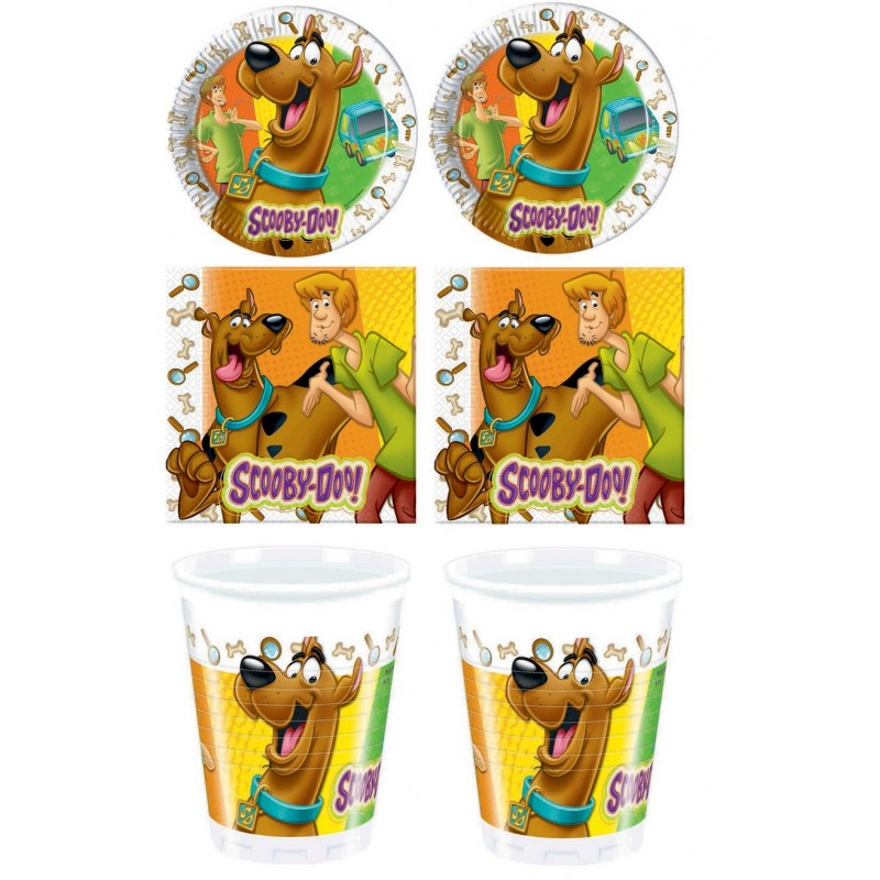 KIT N2 COMPLEANNO BAMBINI SCOOBY DOO