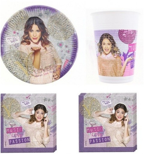 KIT COMPLEANNO VIOLETTA N°2 - LOVE MUSIC PASSION