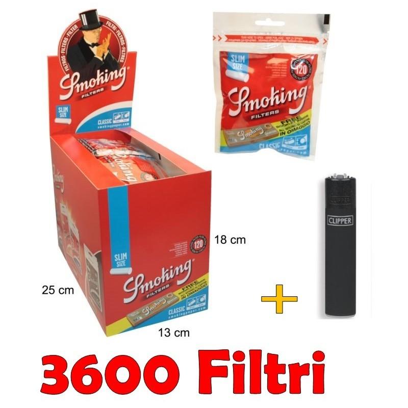 1000 SIGARETTE VUOTE SMOKING 5 CONF. TUBETTI CON FILTRO