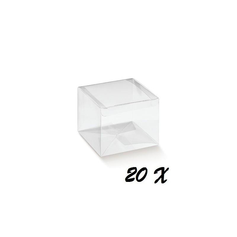 50 SCATOLINE PORTACONFETTI IN PVC 8X8X6 CM 94029