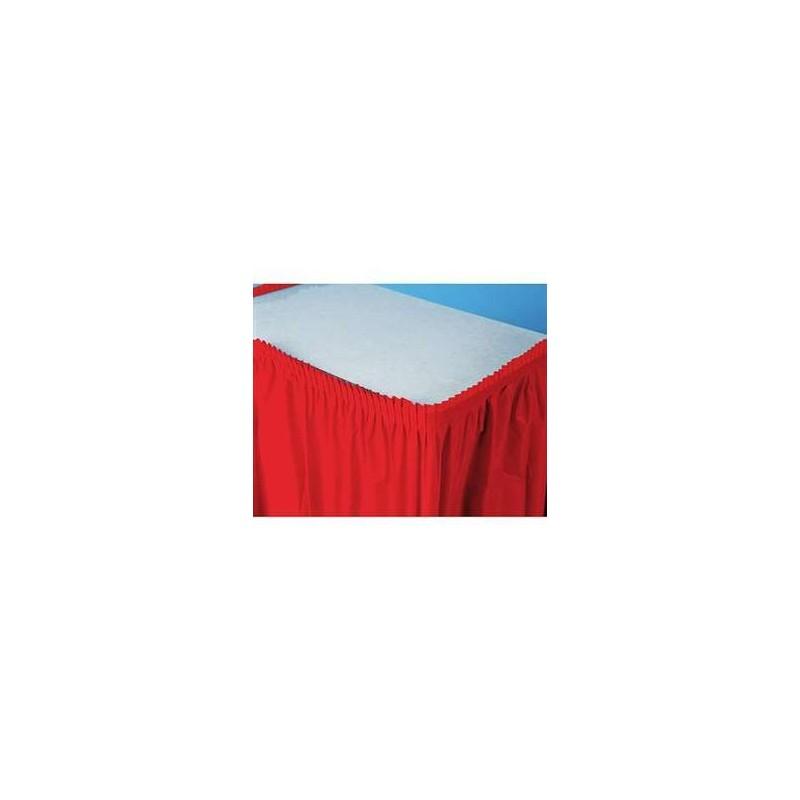 BG010052 GONNA TOVAGLIA DA TAVOLA ROSSA CLASSIC RED BORDO ADESIVO ADDOBBO FESTA