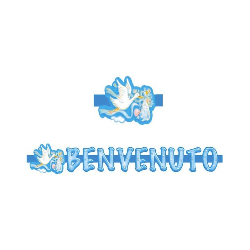 FESTONE BENVENUTA CICOGNA ROSA 30016 BAMBINA