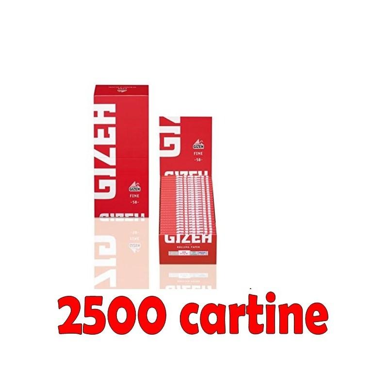 BOX 50 LIBRETTI CARTINE GIZEH VERDI SUPER FINE CORTE