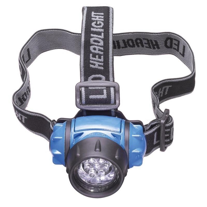 LAMPADA FRONTALE 7 LED TORCIA TESTA EINHELL 947790 BATTERIE LUCE HEADLIGHT LAMP