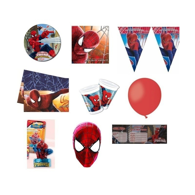 KIT N15 120PZ COMPLEANNO BAMBINI SPIDERMAN
