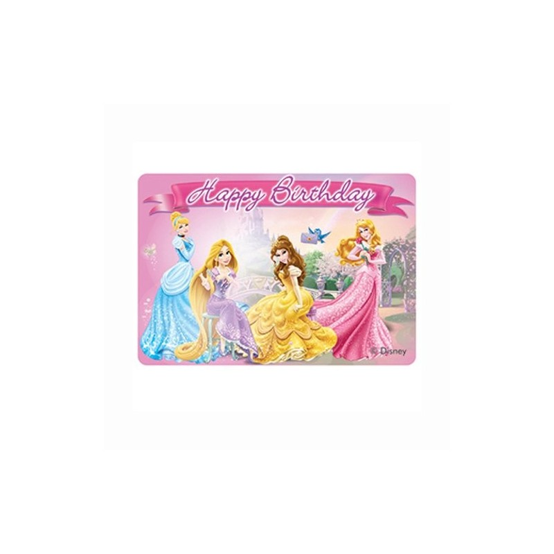 CANDELINA IN CERA PRINCIPESSE DISNEY CANDELA TORTA COMPLEANNO BAMBINA CAKE PARTY