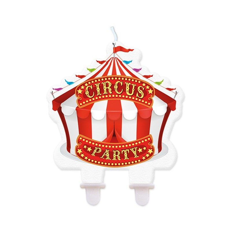 CANDELINA IN CERA 73417 PARTY CIRCUS ADDOBBO TORTA COMPLEANNO BAMBINI CAKE