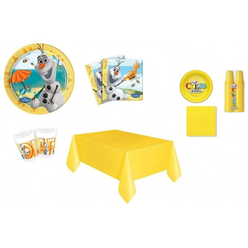 KIT 7 - 217 PZ.OLAF FROZEN + MONOCOLORE GIALLO