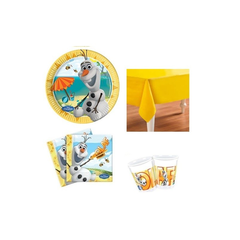 KIT N3 121 PZ COMPLEANNO BAMBINI OLAF FROZEN