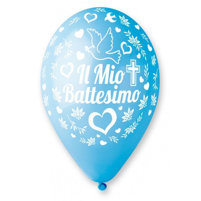 """IRPot - 100 PALLONCINI """" IL MIO BATTESIMO CUORE CELESTE """" 11921-159"""