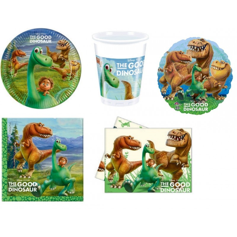 KIT N.10 - KIT COMPLEANNO THE GOOD DINOSAUR ARLO + PALLONCINO FOIL