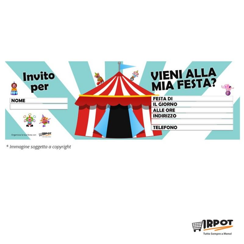 Inviti compleanno circo
