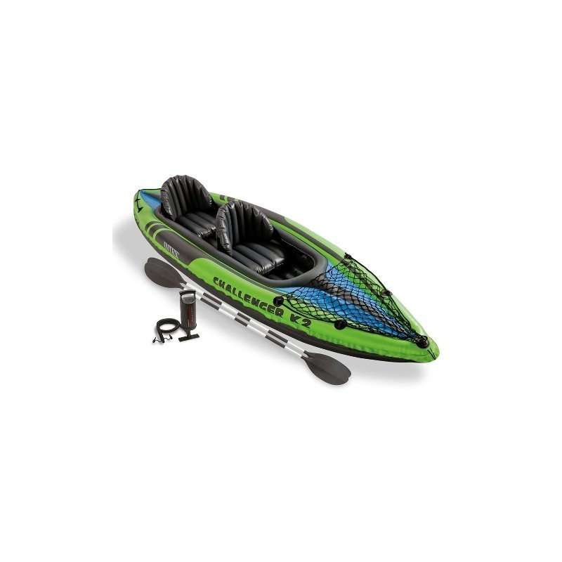 INTEX KAYAK BIPOSTO CHALLENGER K2 CANOA GONFIABILE 68306NP SPORT FIUMI LAGHI