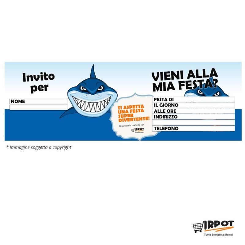 Inviti compleanno squalo