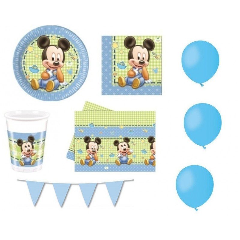 KIT N1 COMPLEANNO BAMBINO TOPOLINO BABY
