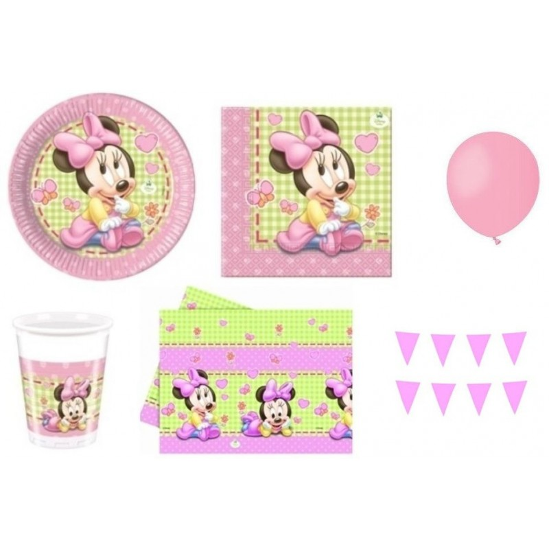 KIT N1 COMPLEANNO BAMBINA MINNIE BABY