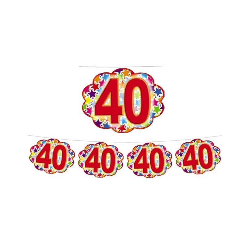 FESTONE COMPLEANNO 18 ANNI STARDUST NUVOLETTE 60350