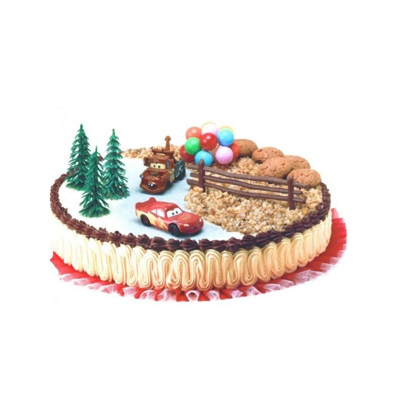 Kit decorazioni torta cars - Decorazioni natalizie per torte ...