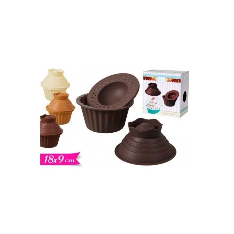 702745 SET 3 STAMPI IN SILICONE  CUP CAKE GOLDEN HILL
