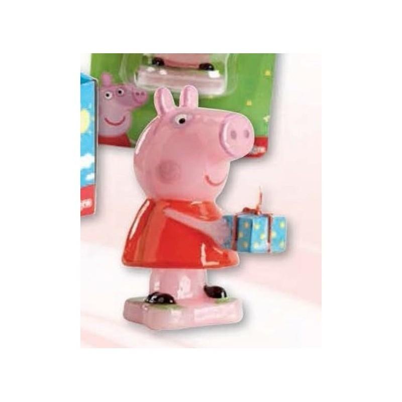CANDELINA IN CERA PEPPA PIG  PER FESTA COMPLEANNO BAMBINA