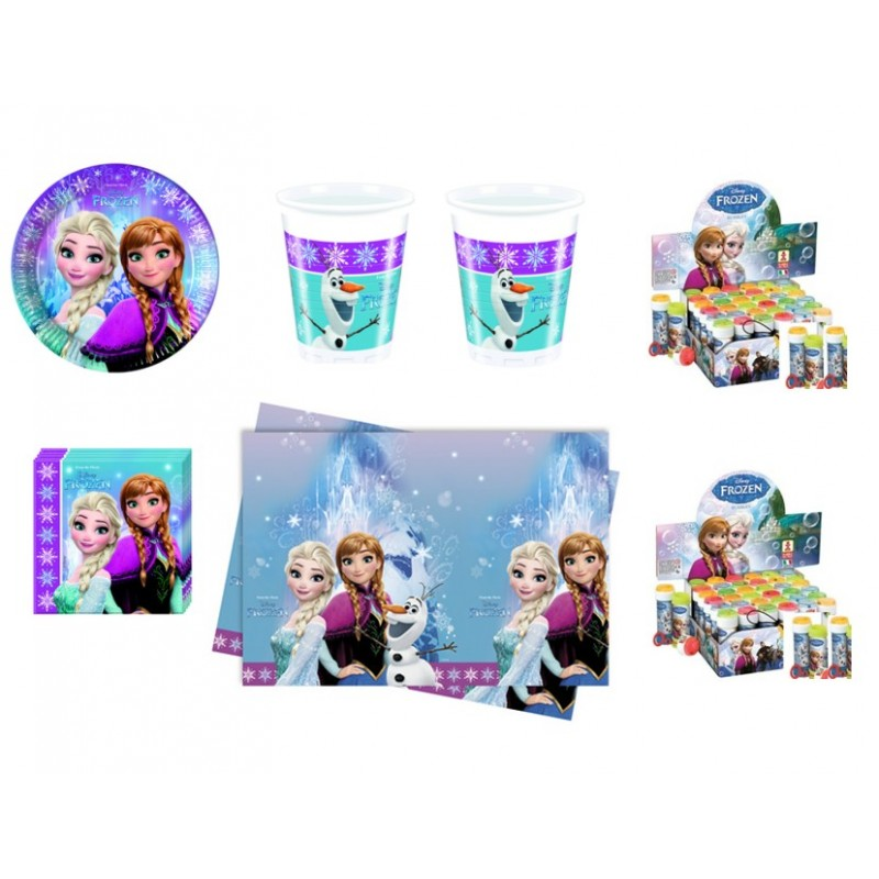 KIT N 5 COMPLEANNO CENERENTOLA + 18 BOLLE DI SAPONE
