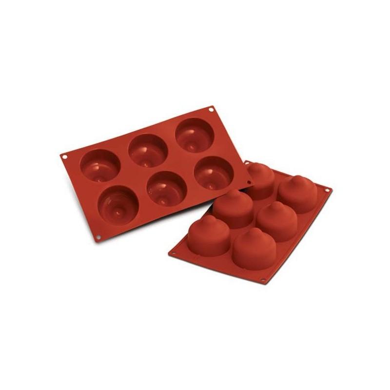stampo silicone 6 baci bacio forno