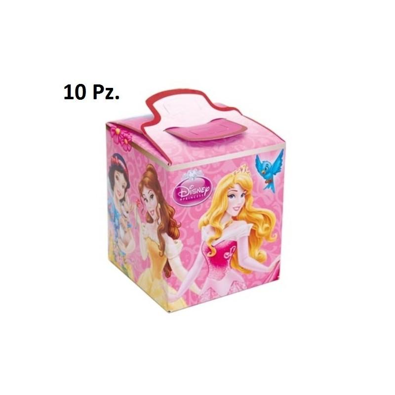 SCATOLINE PRINCIPESSE DISNEY 10 PZ BOX 9,5 CM GADGET REGALO COMPLEANNO