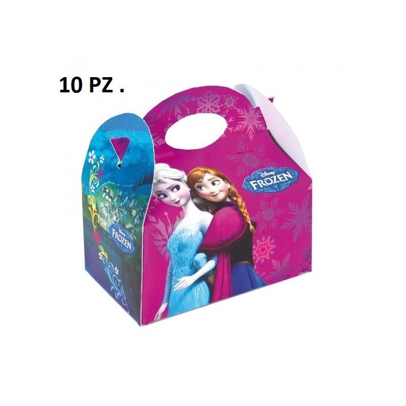 SCATOLE REGALO DISNEY FROZEN BOX GADGET COMPLEANNO 10 PZ BAMBINA ANNA ELSA
