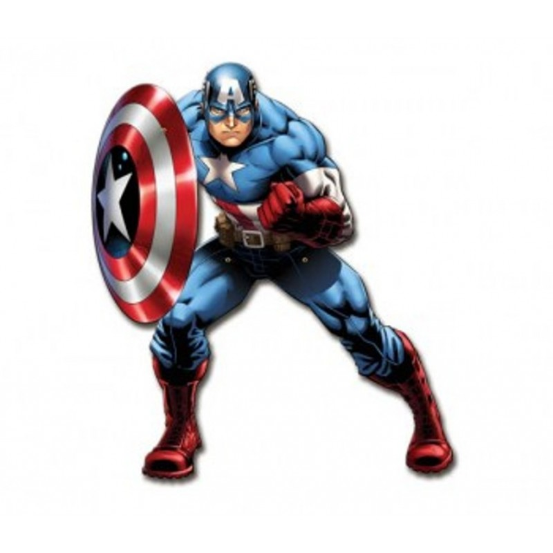 FIGURA DECORATIVA SNODABILE CAPITAN AMERICA