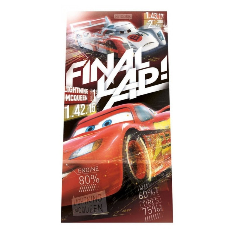 TELO MARE CARS FINAL SLAP WD16943 ASCIUGAMANI BAMBINI BIMBO MARE PISCINA SPORT