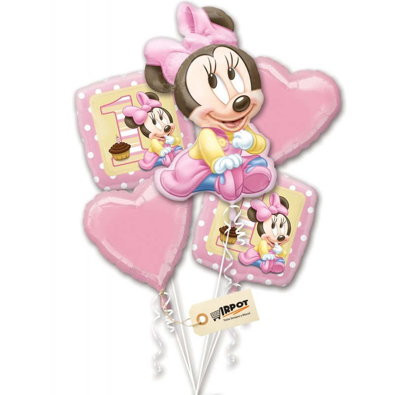 Bouquet Palloncini Minnie 5pz