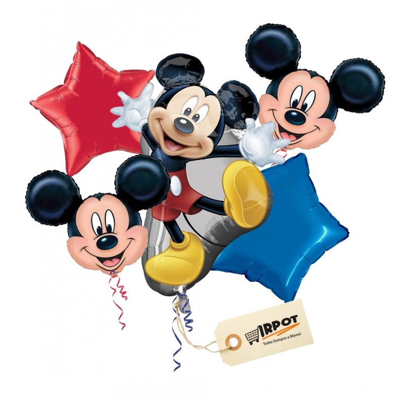 Bouquet di Palloncini Mickey Mouse Topolino