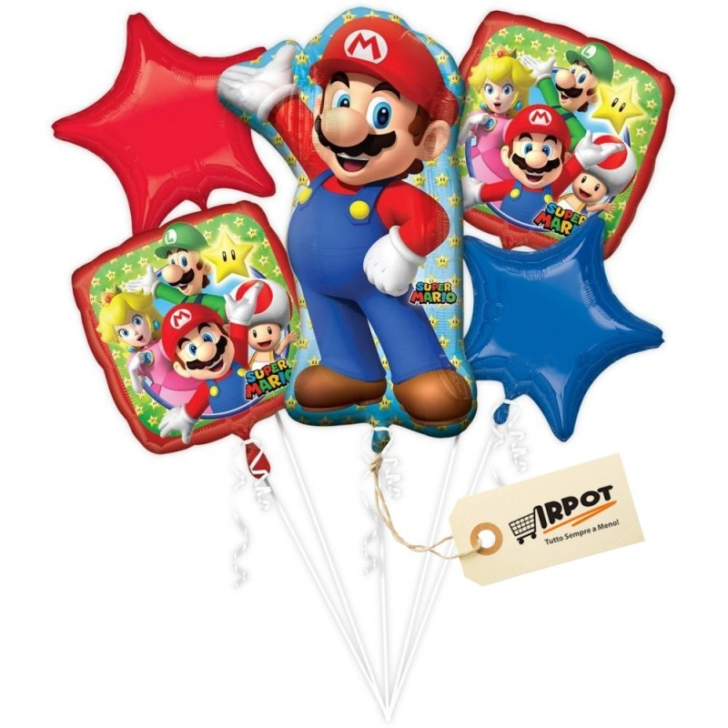 Bouquet di palloncini Super Mario Bros