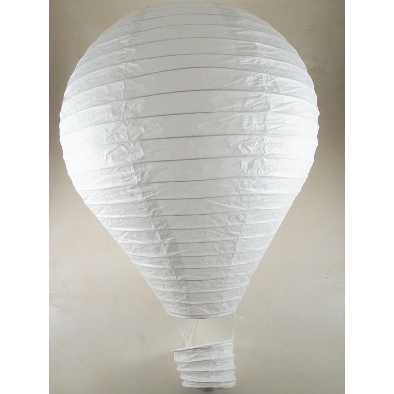 mongolfiera lanterna tea light bianca carta