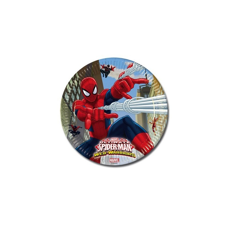 PIATTI SPIDERMAN WEB WARRIORS 8 PZ