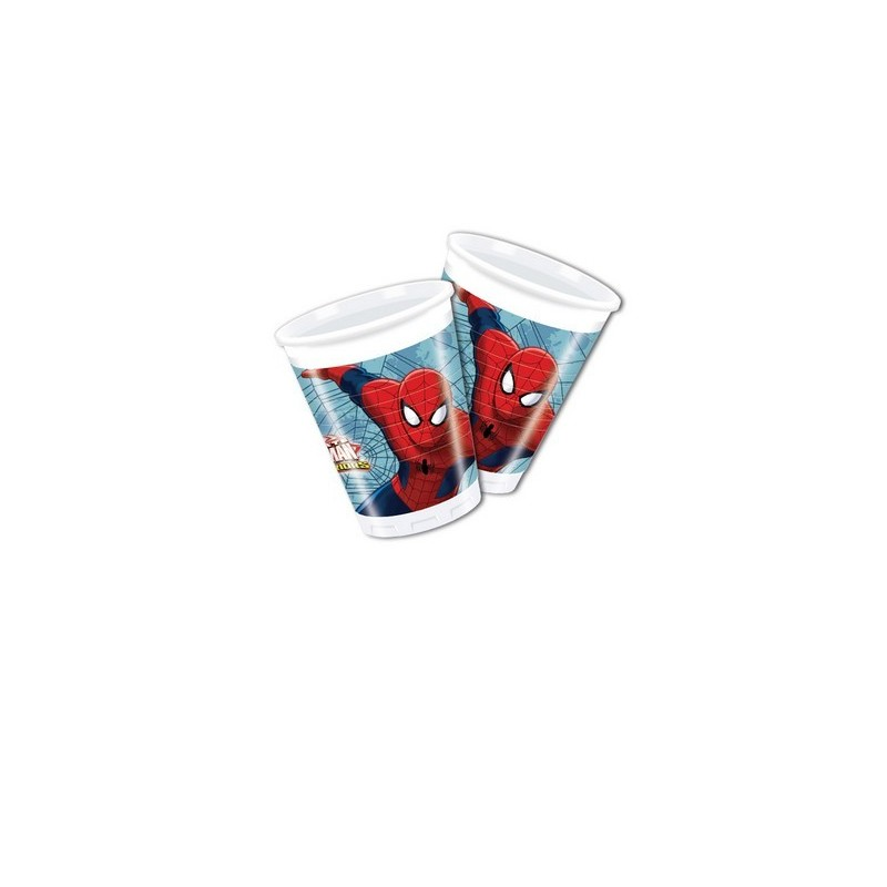 BICCHIERI SPIDERMAN WEB WARRIORS 8 PZ