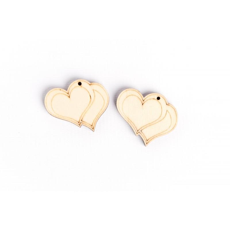 decorazioni legno cuore bomboniere