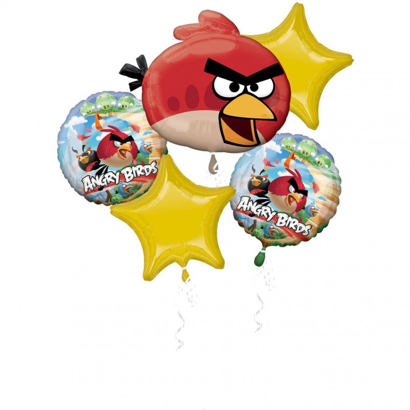 Bouquet palloncini Angry Birds