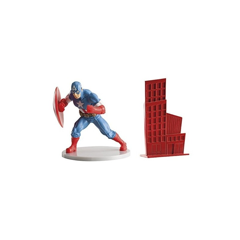 SET DECORAZIONE TORTA CAPITAN AMERICA (213880)
