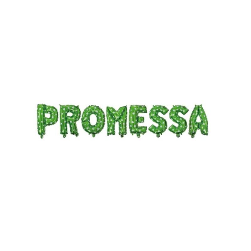 """COMPOSIZIONE PALLONCINI FOIL """" PROMESSA """" VERDE POIS"""