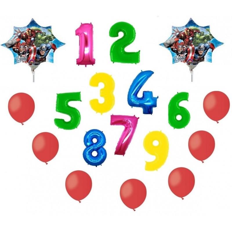 palloncini foil avengers con numero età