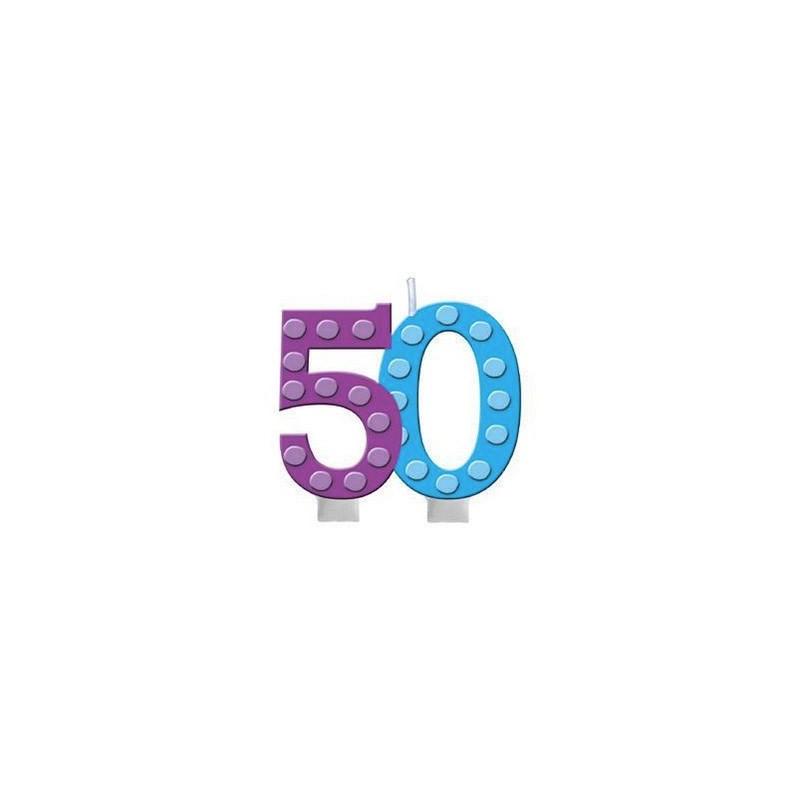 CANDELINA 50 ANNI COMPLEANNO ADULTI 100512